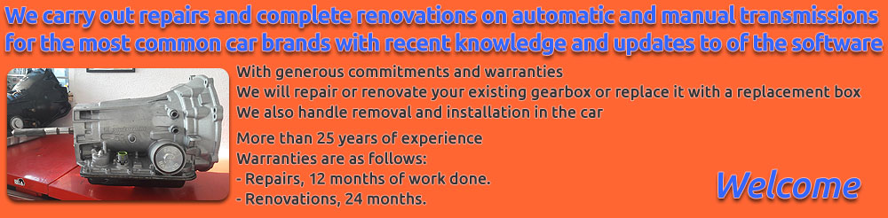 We carry out repairs and complete renovations on automatic and manual transmissions for the most common car brands with recent knowledge and updates to of the software. With generous commitments and warranties. We will repair or renovate your existing gearbox or replace it with a replacement gearbox. We also handle removal and installation in the car. For companies, we have free shipping within Sweden for loose gear boxes. More than 25 years of experience.