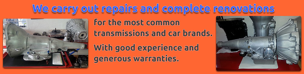 We carry out repairs and complete renovations for the most common car brands and transmissions. With good experience and generous warranties.
